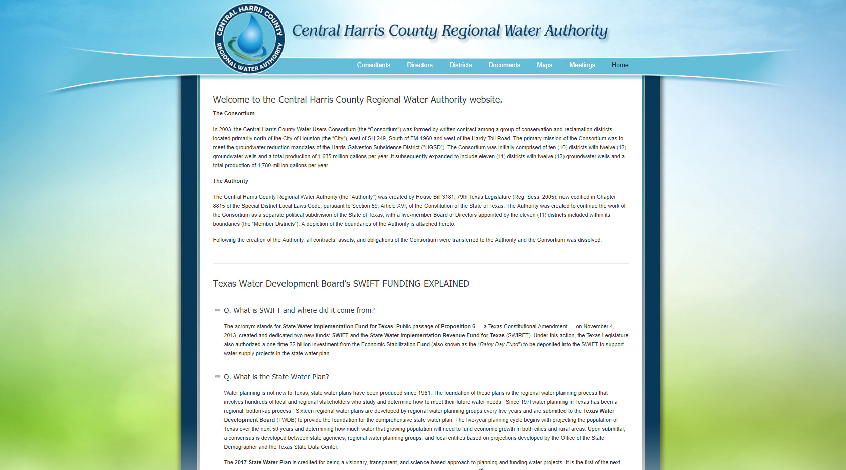Central Harris County Regional Water Authority (CHCRWA)