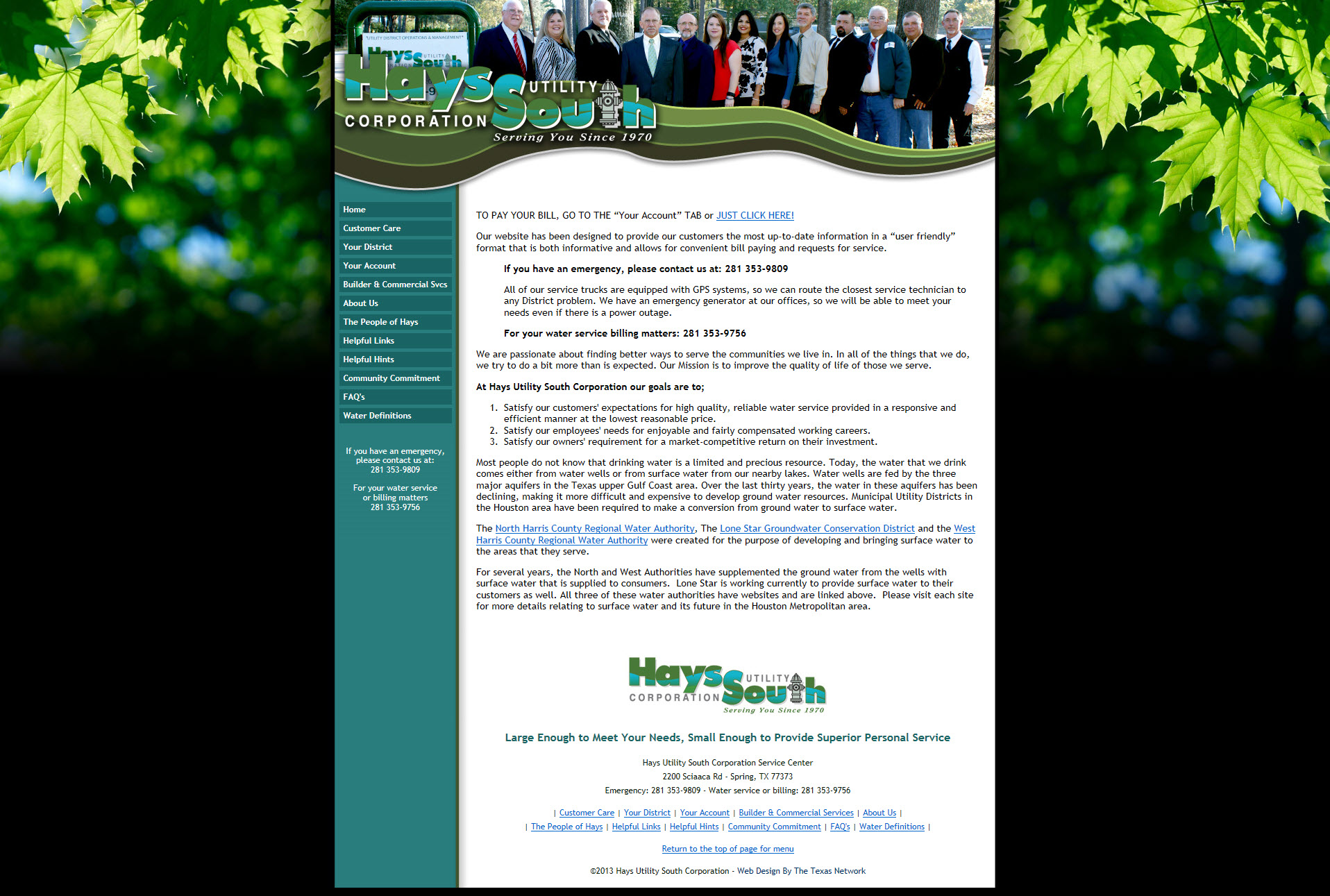Hays Utility South Corporation