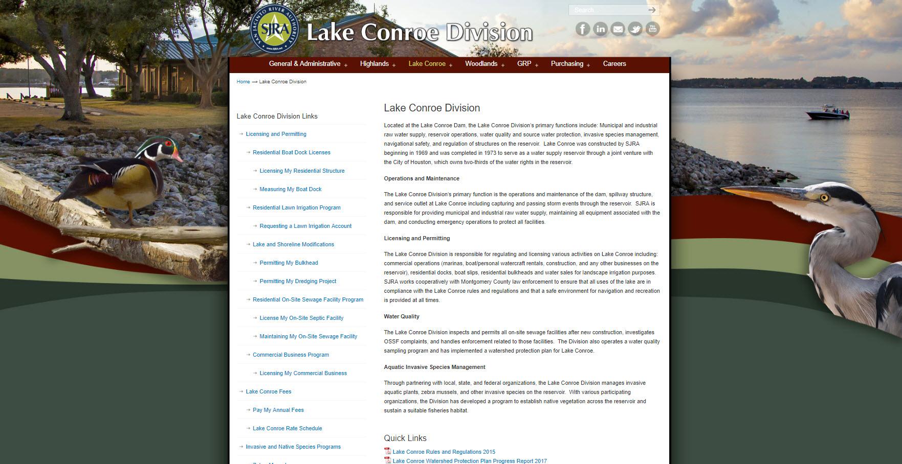 SJRA Lake Conroe