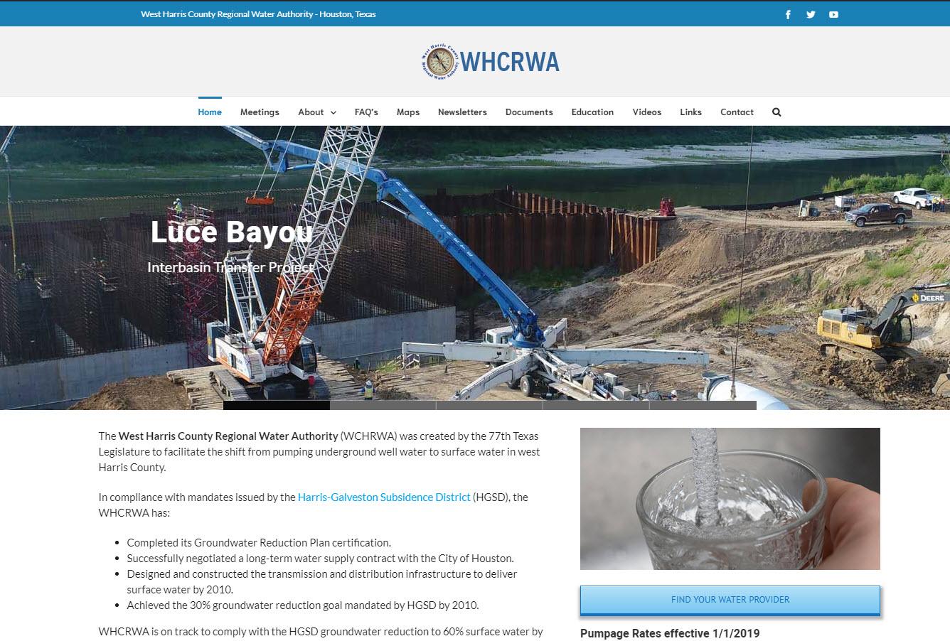 WHCRWA Website development