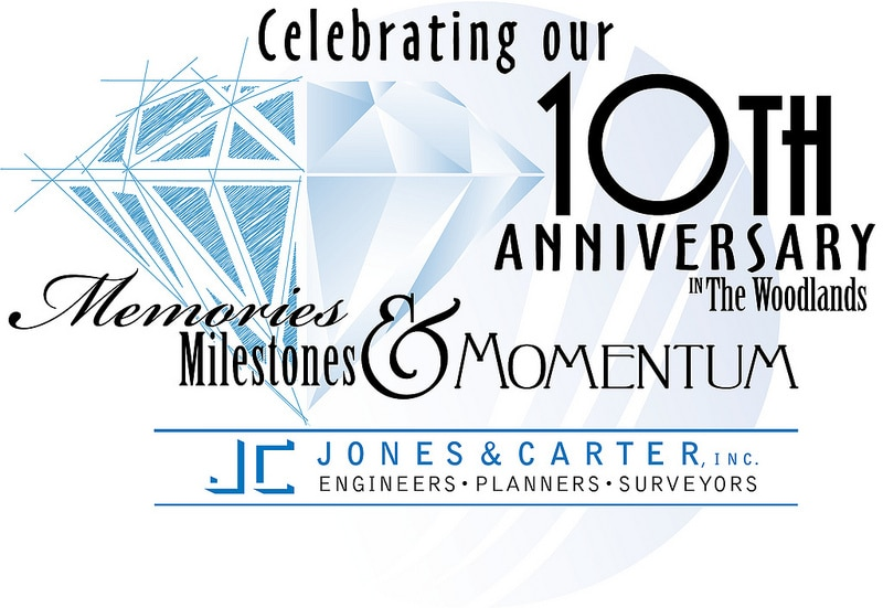 Jones and Carter 10th Anniversary logo design