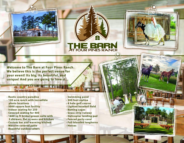 Barn at Four Pines Ranch Brochure