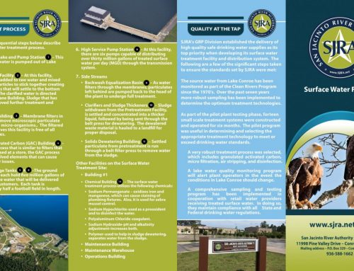 SJRA Surface Water Facility outside brochure