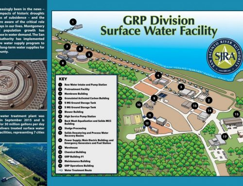 SJRA Surface Water Facility inside brochure
