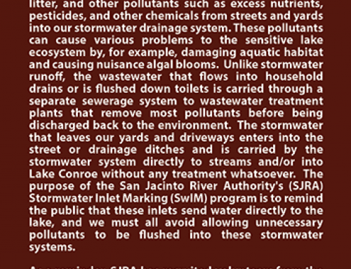 Storm water inlet marking – SJRA
