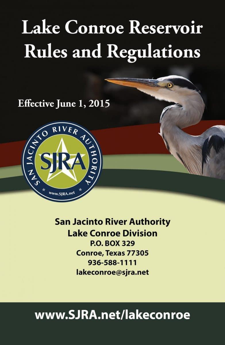 Lake Conroe Reservoir Rules and Regulations